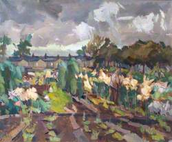 Allotments with Stormy Sky, Walthamstow