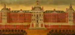 Façade of Bethlem Royal Hospital at Moorfields