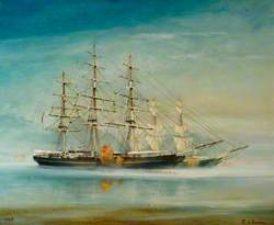 'Cutty Sark' and 'Thermopylae' before the Great Race, 1872