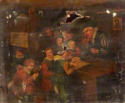 Sixteenth-Century Style Schoolroom Scene*