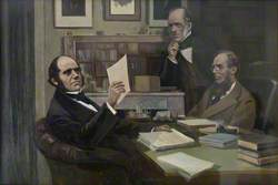 Charles Darwin (1809–1882), with Sir Charles Lyell (1797–1875), and Joseph Dalton Hooker (1817–1911)