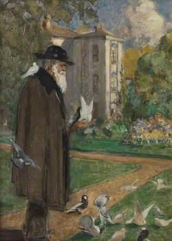 Charles Darwin in the Garden