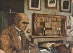 Young Mr Charles Darwin in His Old Study