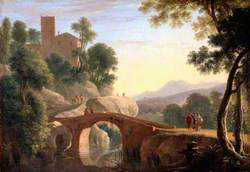 Italian Landscape with Bridge