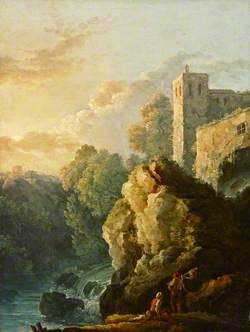 Castle and Waterfall