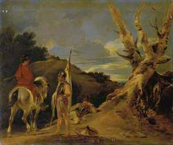 Landscape with Soldiers