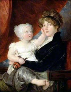 Mrs Benjamin West II with Her Son, Benjamin West III