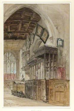Interior of St Mary's Church, Richmond, Yorkshire