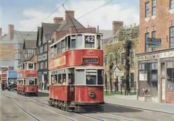 London Tramways Car in Croydon