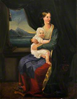 Mrs W. E. Nightingale and Her Elder Daughter, Parthenope
