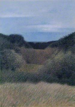 Valley View (Pointillist Landscape)