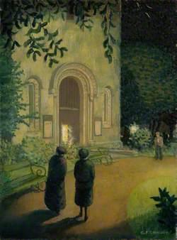Nocturne Exterior Church