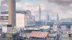 Festival Hall and Shot Tower, London