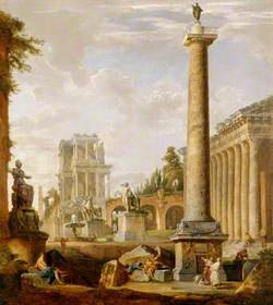 Roman Landscape with the Column of Trajan