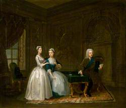 John Montagu (1690–1749), 2nd Duke of Montagu, Lady Mary Churchill and Their Daughter Mary