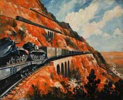Mountain Railway Transporting Tanks