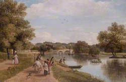 Richmond Bridge from the Towing Path, Surrey