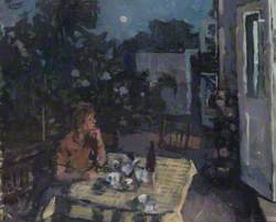 Summer Evening (The Artist's Wife in His Garden at Kew, Evening)