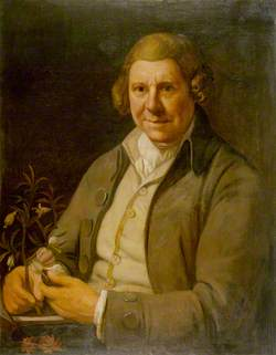 William Aiton (1731–1793), Holding a Plant (species of Aitonia) in His Right Hand and a Hand Lens in His Left