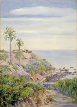 View of Concon, Chili, with Its Two Palms