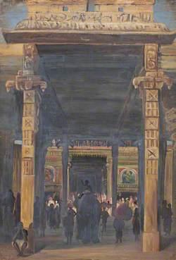 Gate Leading into the Temple, Madura
