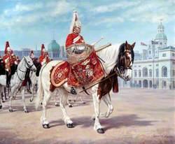 Life Guards on Parade at Horse Guards Parade, London
