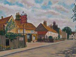 'Ye Olde Red Lion' Pub, Park Lane, Cheam, Surrey, in 1930