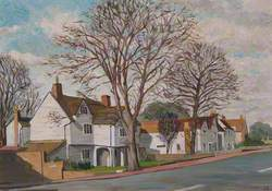 Malden Road, Cheam, Surrey, with Whitehall