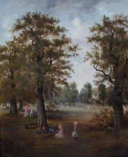 Tooting Common with a Cricket Match