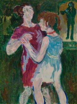 Woman and Girl Dancing in a Park