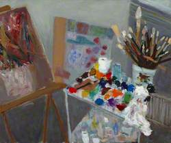 Easel and Paints