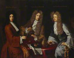 Triple Portrait of the 2nd Earl of Burlington (1674–1704), the 1st Duke of Kingston-upon-Hull (c.1665–1726), and the 3rd Baron Berkeley of Stratton (1663–1697)