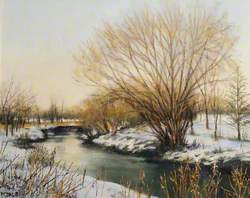 River Brent in Winter