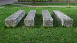 Four Concrete Forms with White
