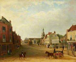 View of Hammersmith Broadway and Queen Street (c.1831–1838)