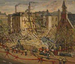 Fulham Hospital after Bombing