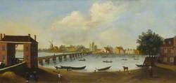 Old Fulham Bridge from the Fulham Side