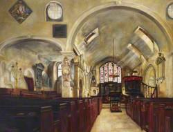 View of Interior of Chelsea Old Church