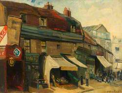 Little Shops at the Top of Church Street, 1930