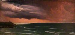 A Coast Scene, Ireland: Storm Effect