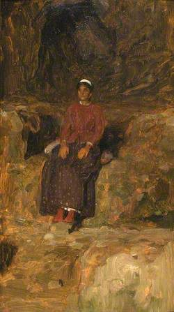 Woman Seated in a Landscape