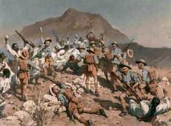 2nd Battalion 5th Gurkha Rifles at Ahnai Tangi, North-West Frontier, India, 14 January 1920