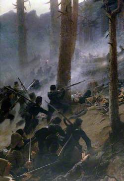 The Attack on the Peiwar Kotal, Afghanistan, by 5th Gurkha Rifles, December 1878