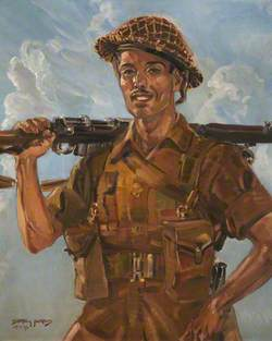 A Soldier in Battle Order, Madras Guards, 23 Feb 1943