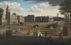A View of the West Front Horse Guards, with the Treasury and Downing Street Beyond