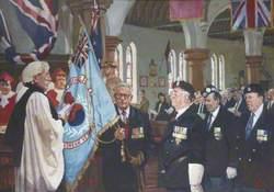 The Dedication of the British Korean Veterans Association Surrey West Branch Standard at the Royal Garrison Church of All Saints, Aldershot, 20 October 1996