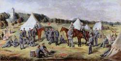 The 1st Administrative Battalion of the Norfolk Volunteers at Gunton Park