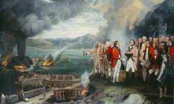 General Eliott (1717–1790), and His Officers Observing the Destruction of the Floating Batteries, Gibraltar, 14 September 1782