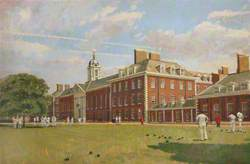 Playing Bowls on the Lawn of the Royal Hospital Chelsea