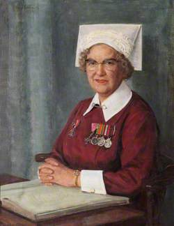 Miss M. E. Alma Hardy (1908–1981), MBE (1954), SRN, SCM, Matron, The Royal Hospital Chelsea (1948–1972)